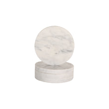Load image into Gallery viewer, CIRCLE MARBLE COASTERS | White | Set of 4