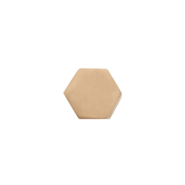 HEXAGON CARD HOLDER | Brass