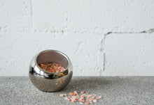 Load image into Gallery viewer, Silver salt sphere on bench