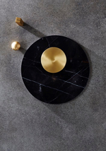 Load image into Gallery viewer, CIRCLE MARBLE TRIVET | Black