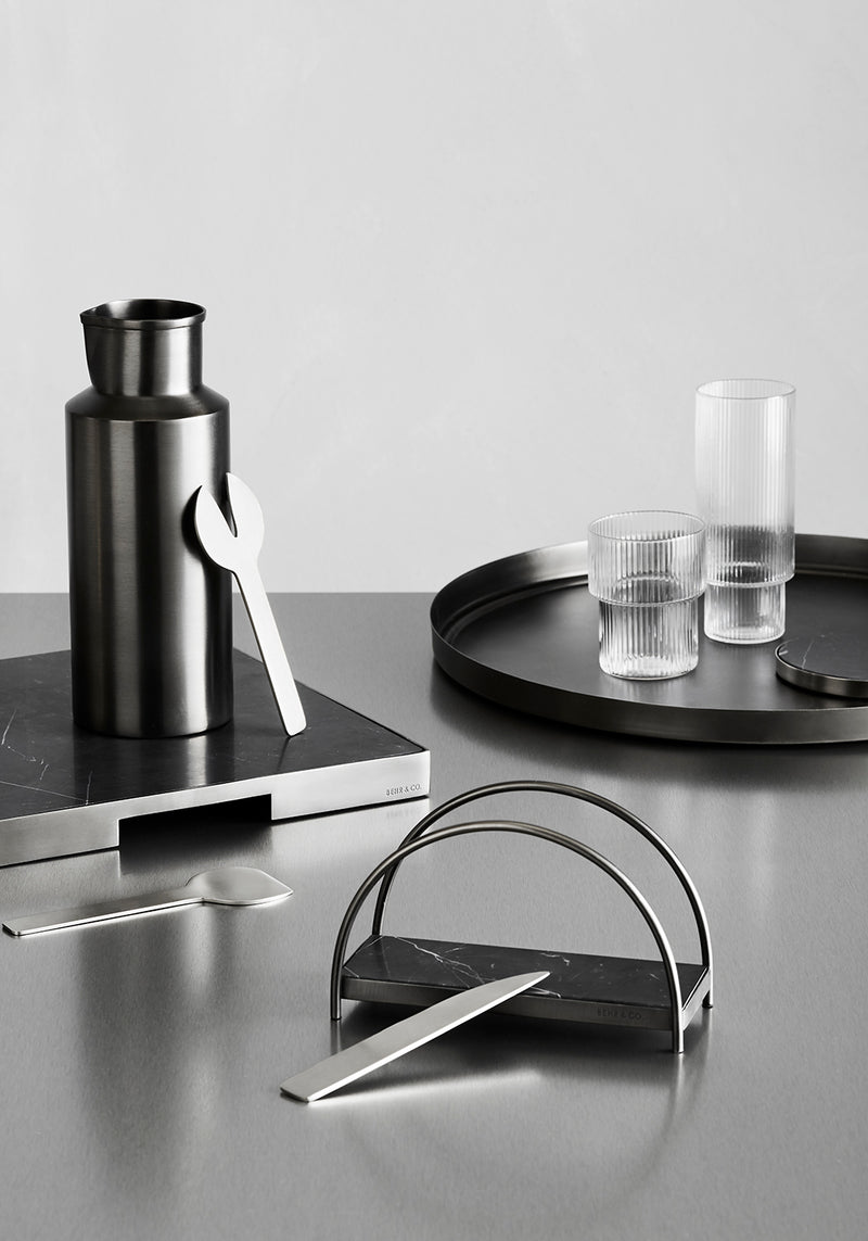 GEO WATER PITCHER | Black Nickel