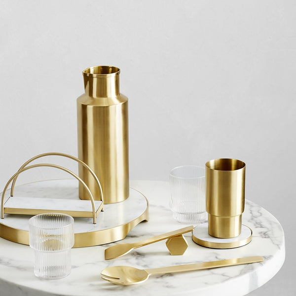 GEO WATER PITCHER | Brass