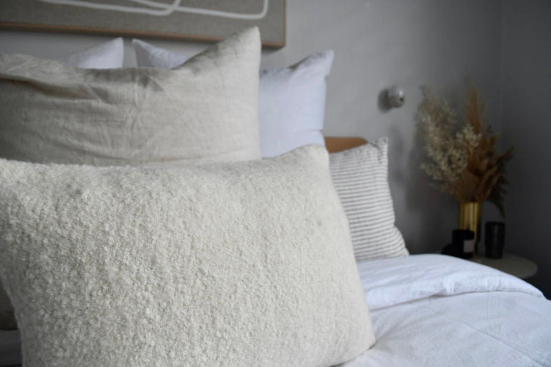 ALPACA BOUCLE CUSHION COVER | Natural