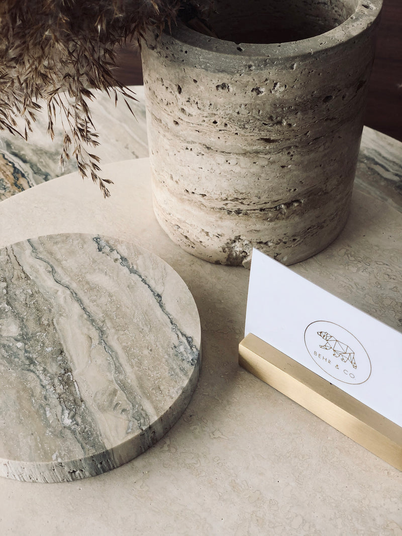 MINI ROUND STONE TRIVET | Limited Edition Travertine