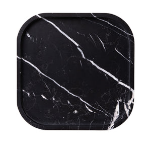 MARBLE SQUIRCLE TRAY | Nero Marquina