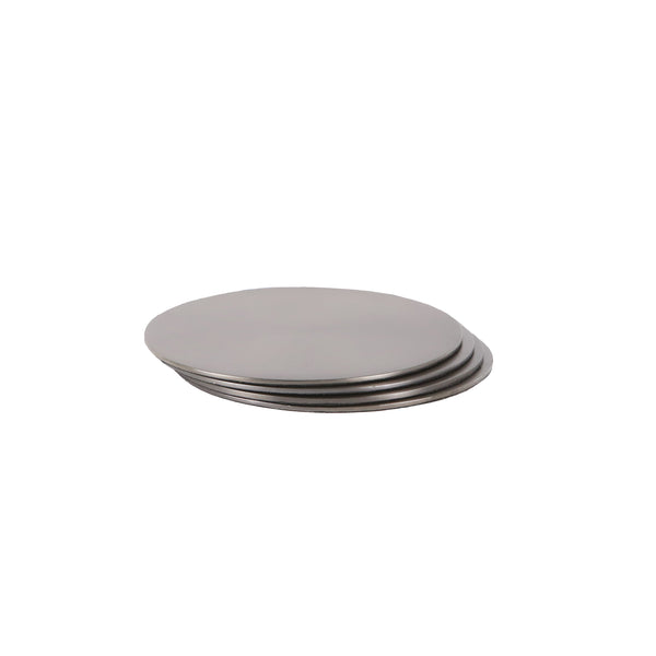 CIRCLE COASTERS | Black Nickel | Set of 4