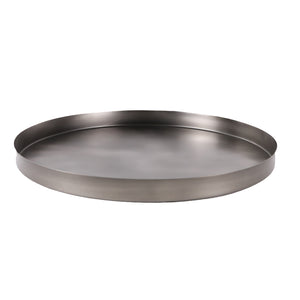 GEO ROUND TRAY | Black Nickel