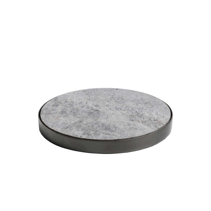 GEO COASTERS | Black Nickel & Grey Tundra | Set of 4