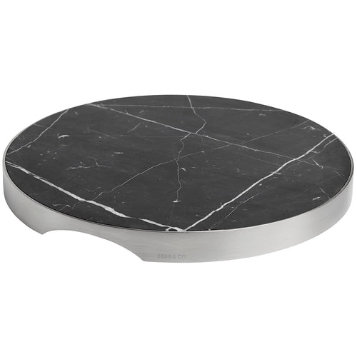 GEO GRAZING BOARD ROUND | Brushed Nickel & Nero