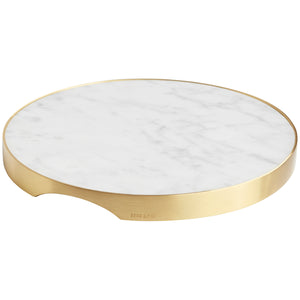 GEO GRAZING BOARD ROUND | Brass & Carrara