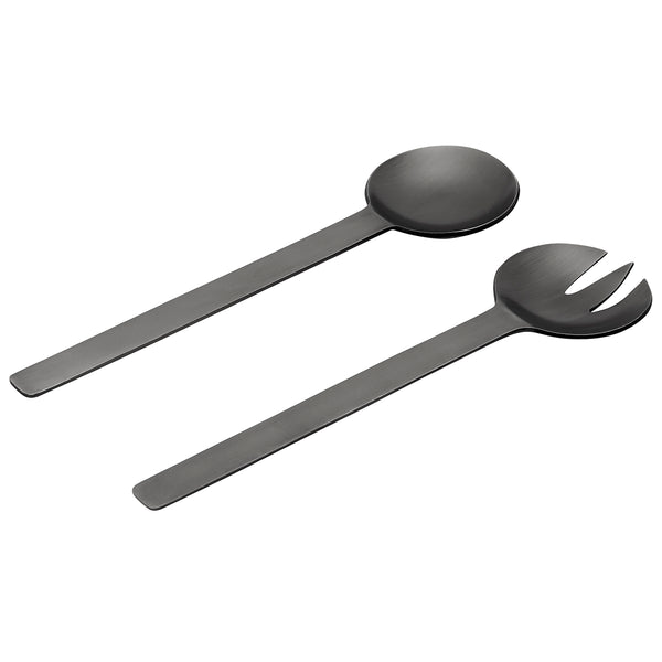 GEO SALAD SERVERS | Black Nickel