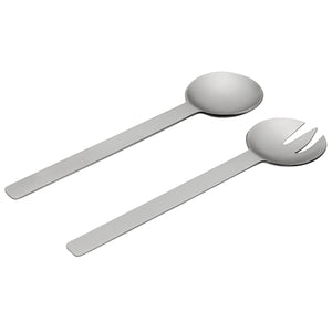GEO SALAD SERVERS | Brushed Nickel