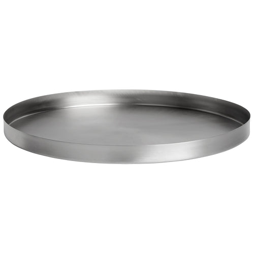 GEO ROUND TRAY | Brushed Nickel