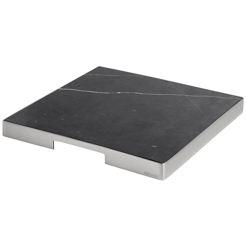 GEO GRAZING BOARD SQUARE | Brushed Nickel & Nero