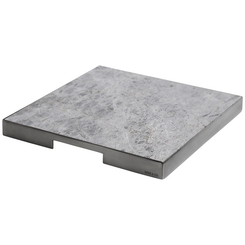 GEO GRAZING BOARD SQUARE | Black Nickel & Tundra Grey