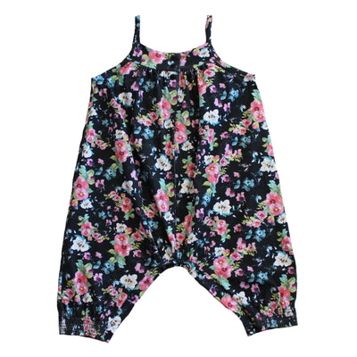 In Bloom Romper - Black Floral
