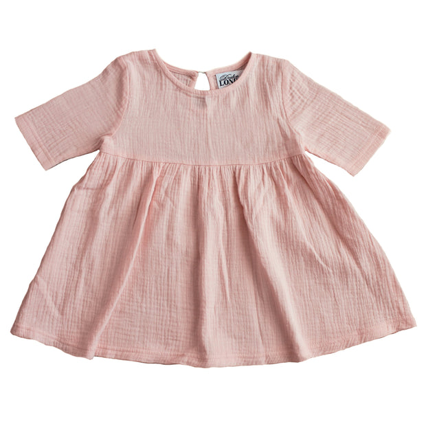 Short Sleeve Swing Dress - Peachy
