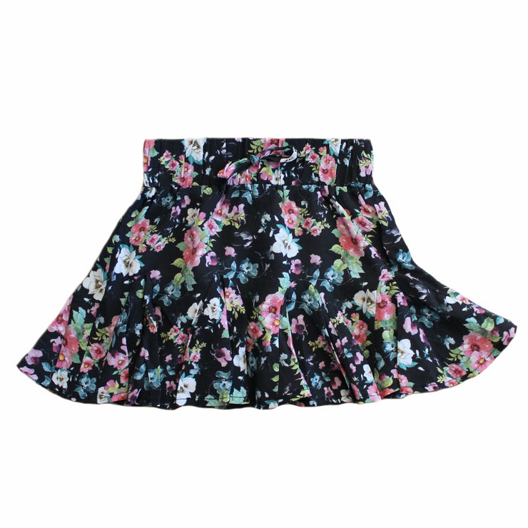 Flow Mini Skirt - Black Floral