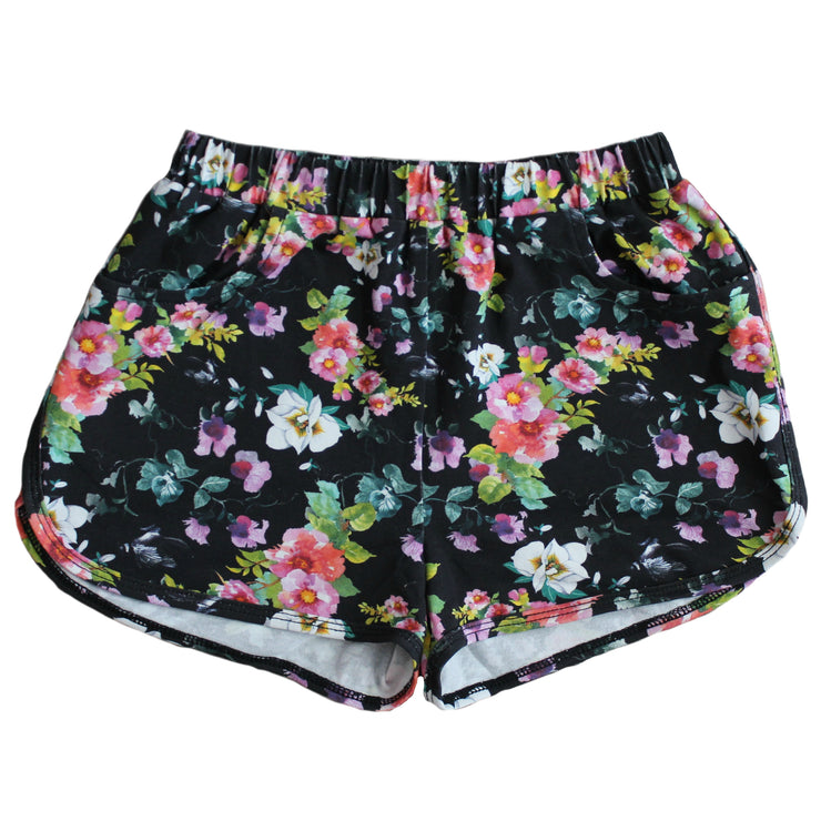 Shorties - Black Floral