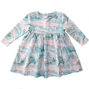 Ocean Swirl LS Dress