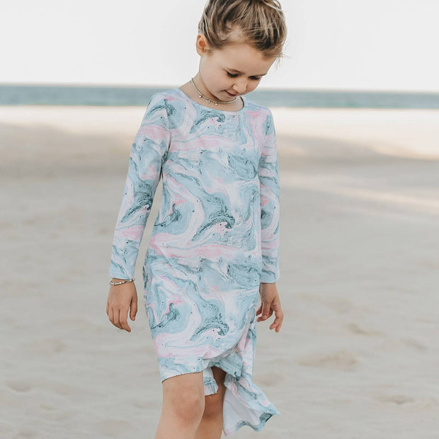 Ocean Swirl Full Circle Dress