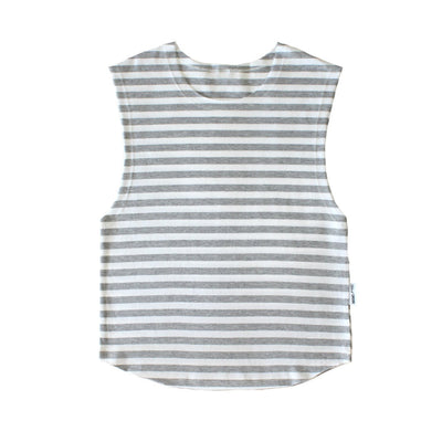 TANK - Samos - Grey White Stripes