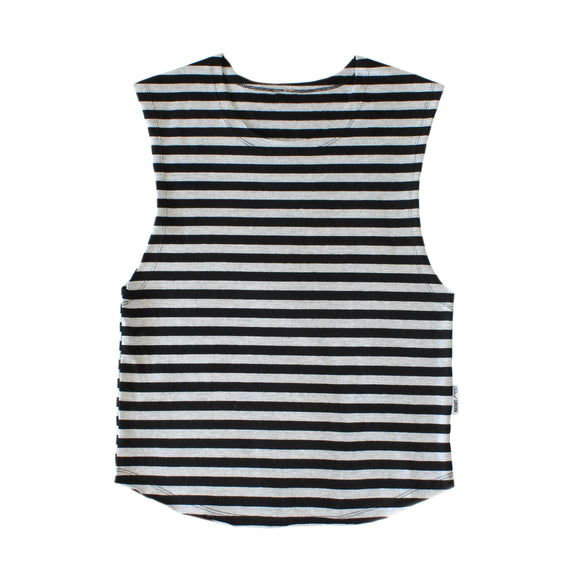 TANK - Samos - Black Grey Stripes