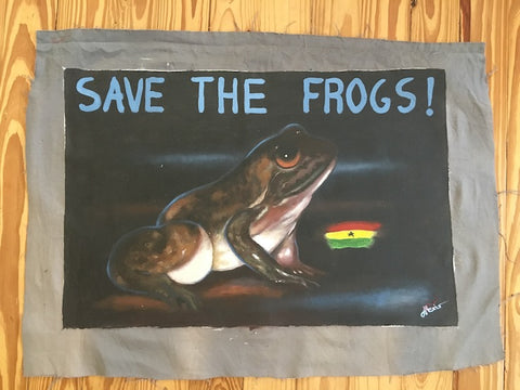 Original Frog Art From Ghana