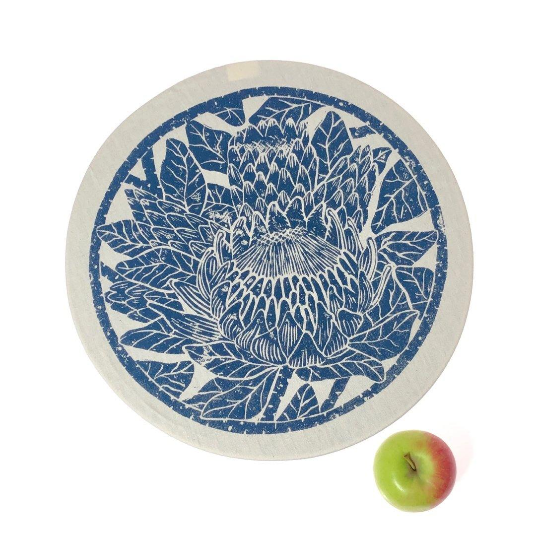 Dish and Bowl Cover Large Protea Print | your salad bowl cover
