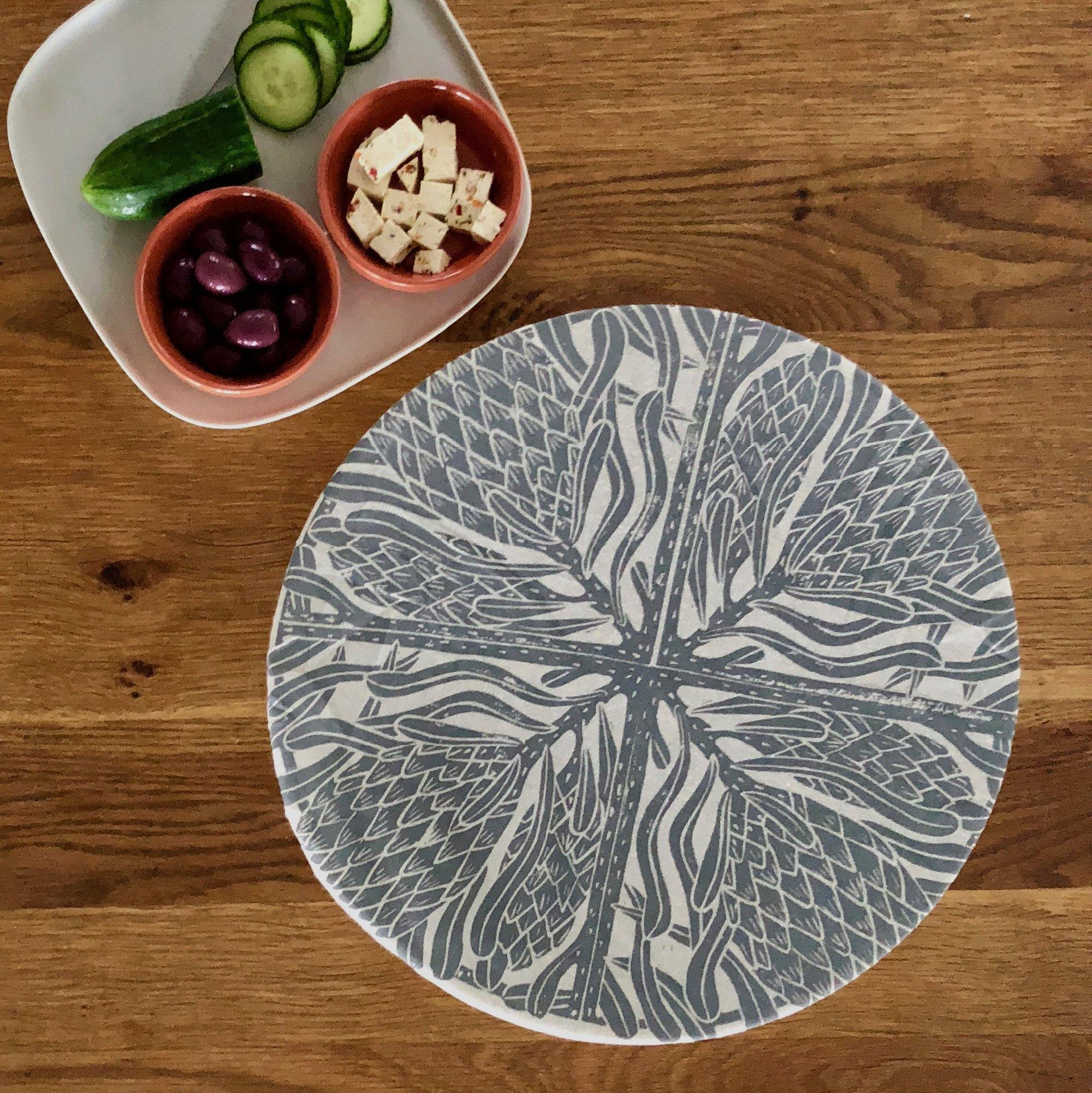 Dish and Bowl Cover Extra Large Protea Print | great for entertaining