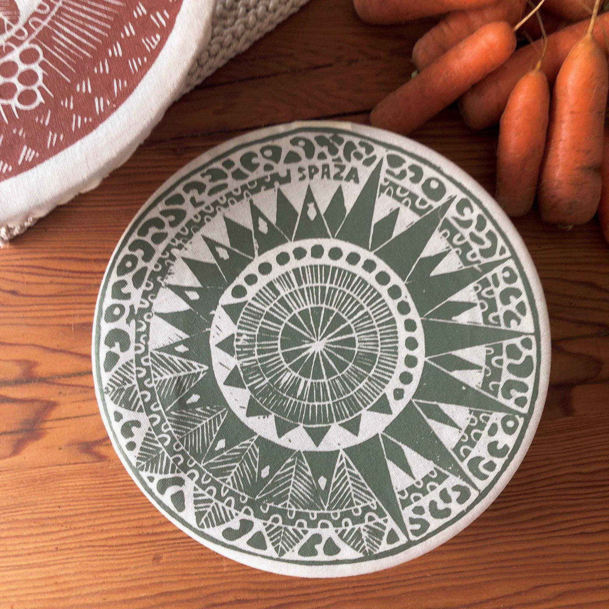 Dish and Bowl Cover Small Safari Print | handy single portion or leftover