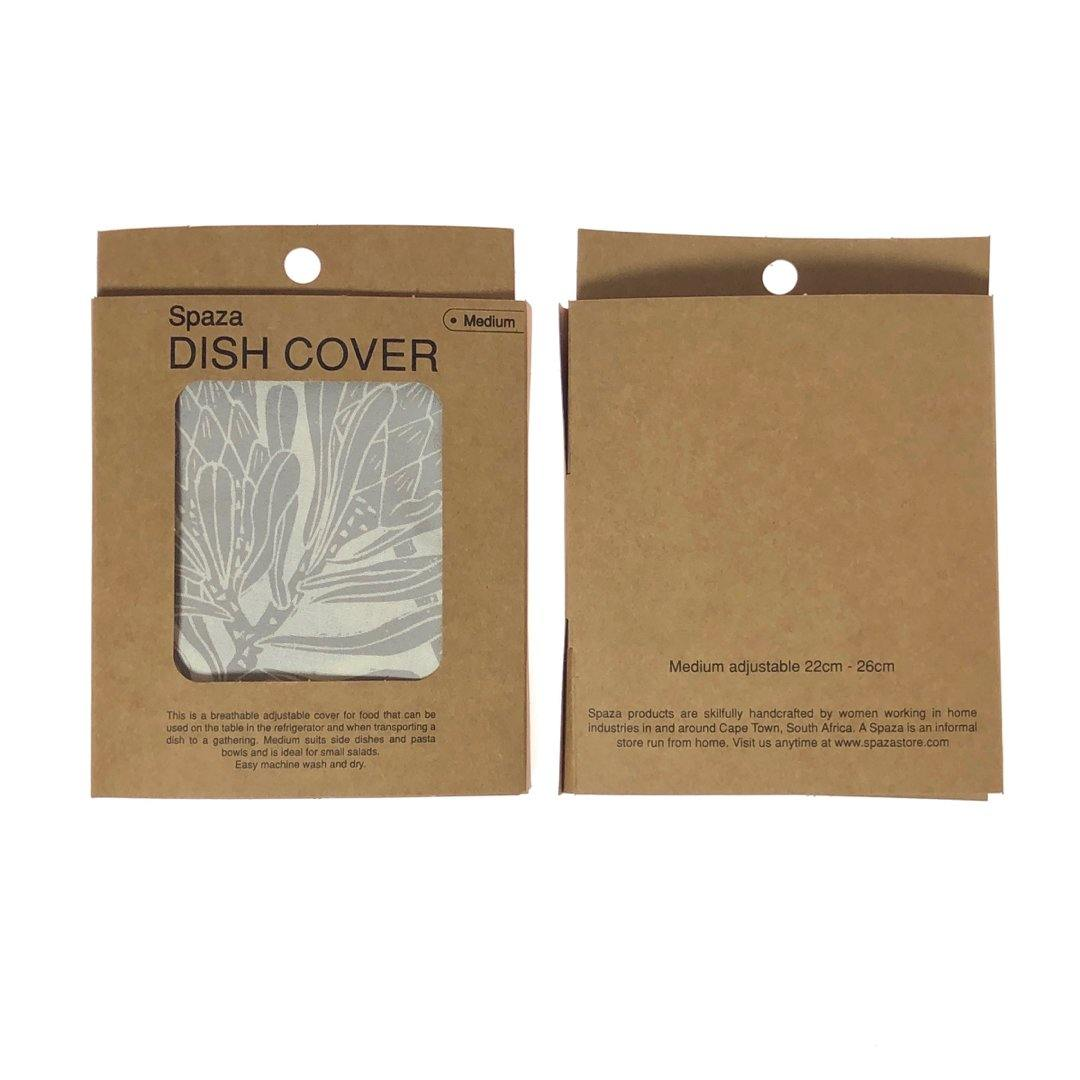 Dish and Bowl Cover Medium Protea Print | handy everyday cover