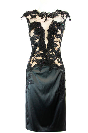 Vintage Style Cocktail Dress with Lace Bodice