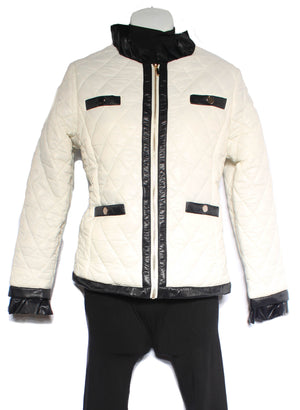 Quittled Black and White Jacket