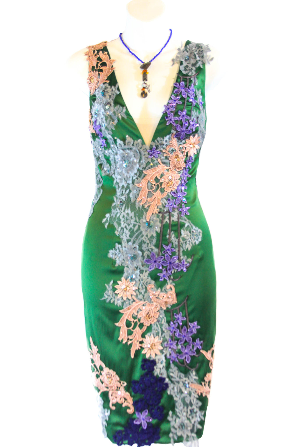 Jade Green Multi Cocktail Dress