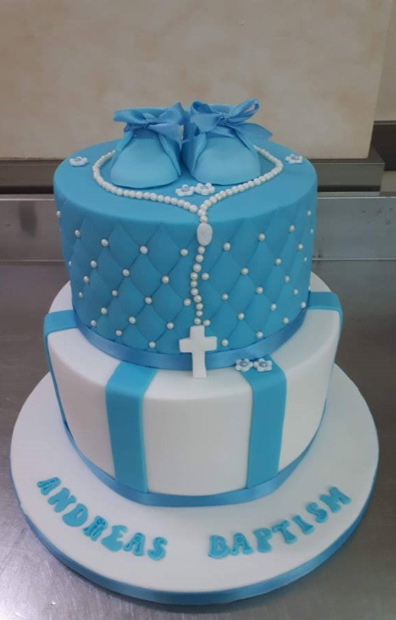 Baptism Themed Cake