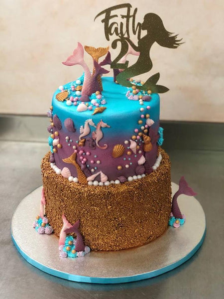 Sparkly Mermaid Cake
