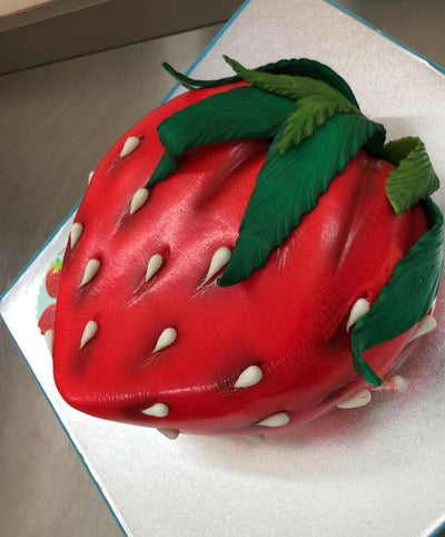 Giant Strawberry Cake