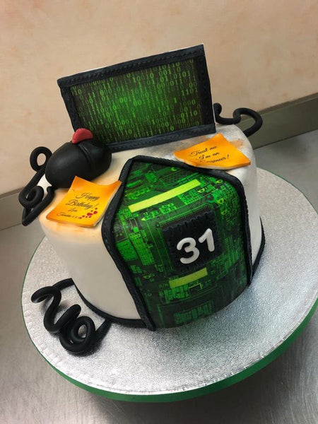 Software Engineer Themed Cake