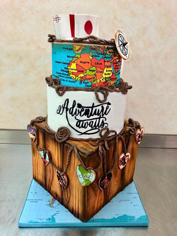 Adventure Themed Cake