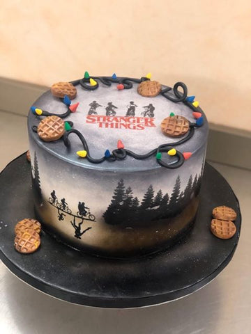 Stranger Things Themed Cake