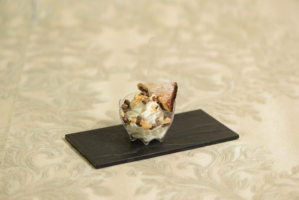 Maltese ice-cream served with dates and a honey glaze