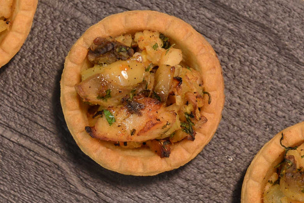 Mini tarts with apple and camembert,mushroom and curry chicken - Mannarinu - 3