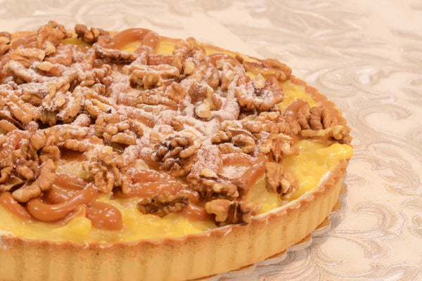 Apple, Walnut & Caramel Tart - Mannarinu - 1