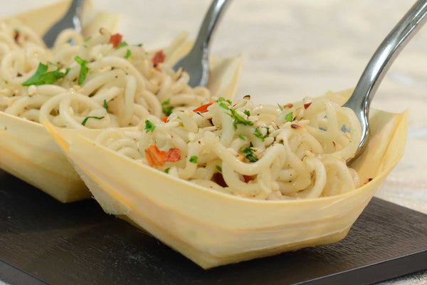 Cold vegetable noodles topped with sesame seeds - Mannarinu - 3