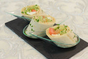 Vegetable wraps with cream cheese, sun-dried tomatoes, pinenuts and lemon zest - Mannarinu - 3