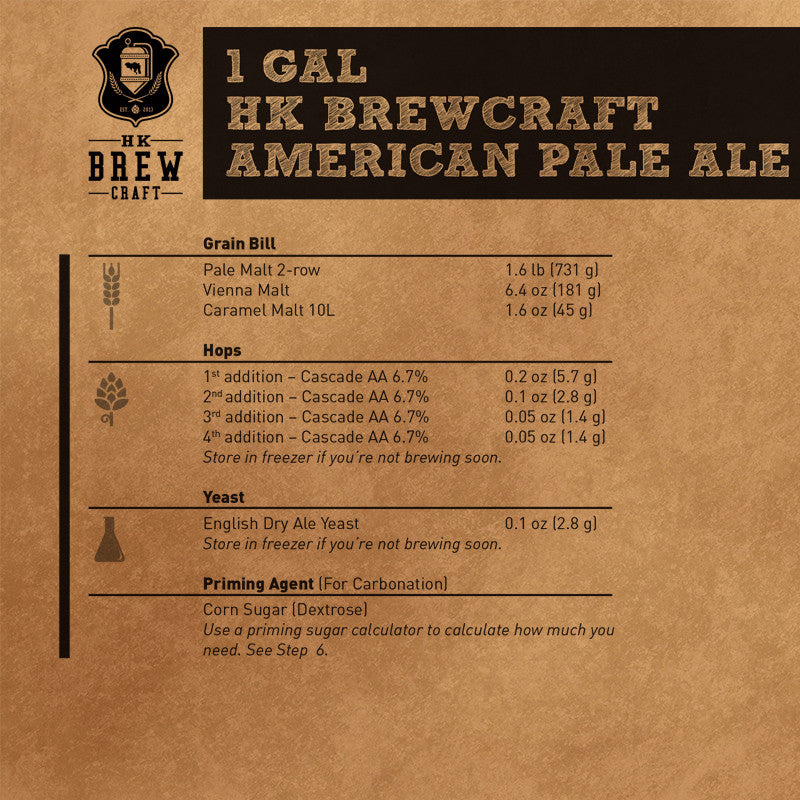 1 Gallon - American Pale Ale