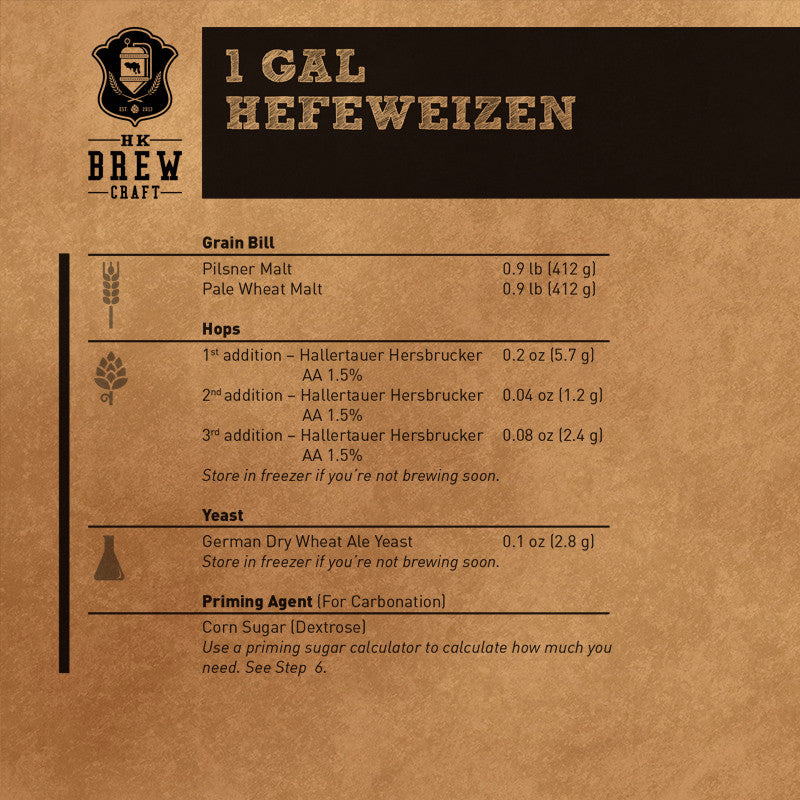 1 Gallon - Hefeweizen