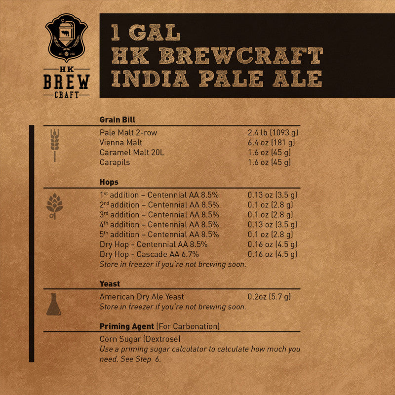 1 Gallon - India Pale Ale