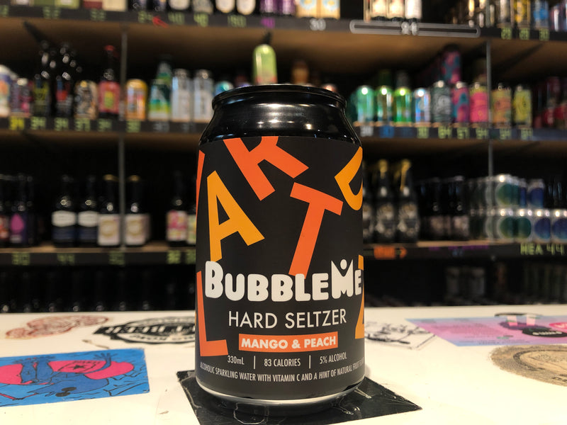 BubbleMe Hard Seltzer - Mango & Peach